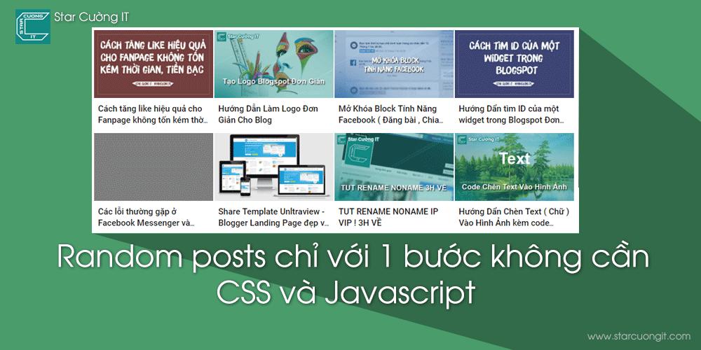 Tạo widget bài viết ngẫu nhiên (Random posts) chỉ với 1 bước không cần CSS và Javascript