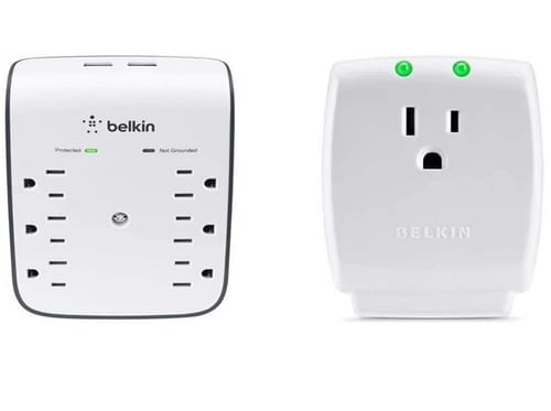 Belkin Wall Mount 6-Outlet USB Surge Protector