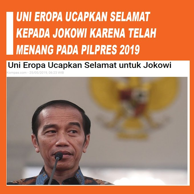 Terpilih Lagi, Uni Eropa Ucapkan Selamat pada Jokowi