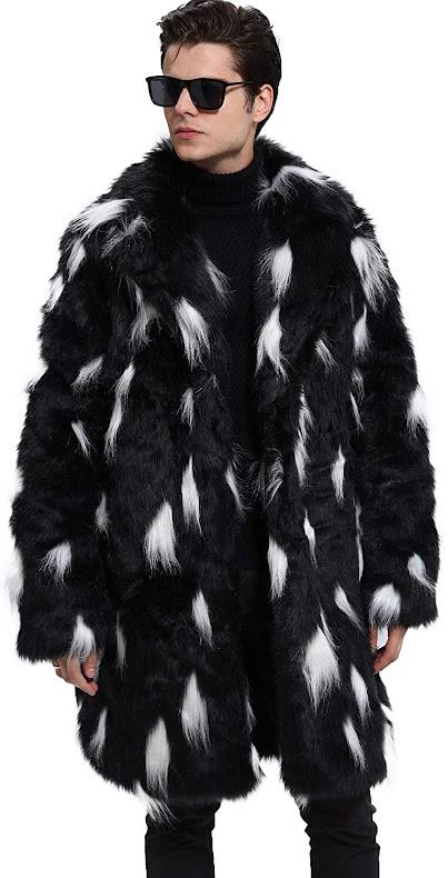 Men's Faux Fur Coats Jackets