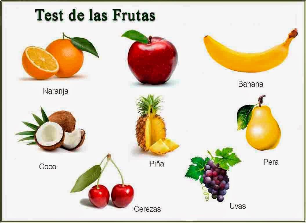 ÚNETE SI TE GUSTA AMAR: Test de las Frutas