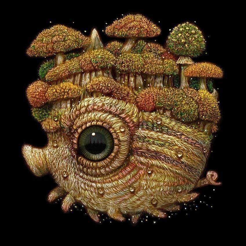 06-Forest-creature-Surreal-Creature-www-designstack-co