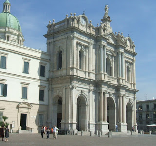 The impressive Pontifical Shrine of the Blessed  Virgin of the Rosary of Pompei