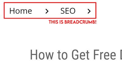 Breadcrumb কি?
