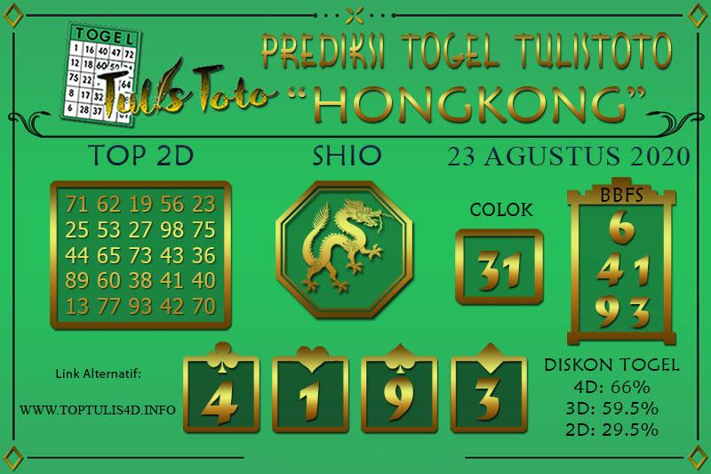 Prediksi Togel HONGKONG TULISTOTO 23 AGUSTUS 2020