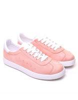 Sneakers en suédine rose pale
