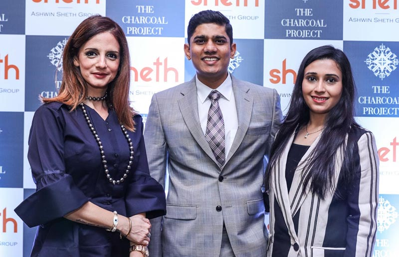 Renowned interior designer Sussanne Khan along with Maulik Sheth, Director, Ashwin Sheth Group