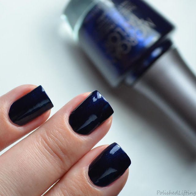 navy blue nail polish swatch