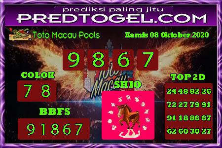 Pred Macau Kamis 08 Oktober 2020