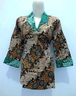 Model Baju Batik Muslim Kerja Guru