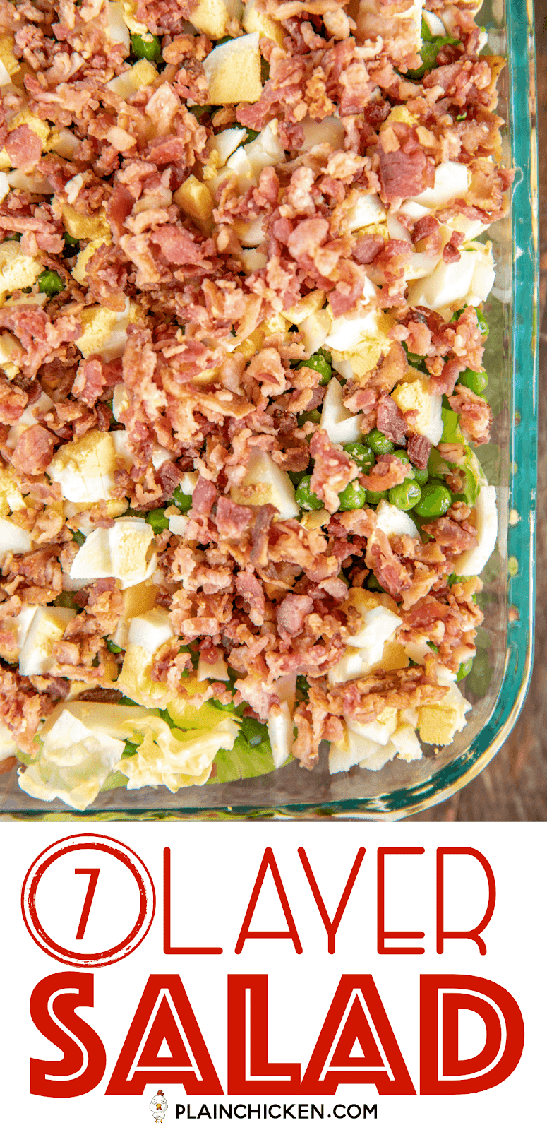 salad with eggs and bacon in a casserole dish
