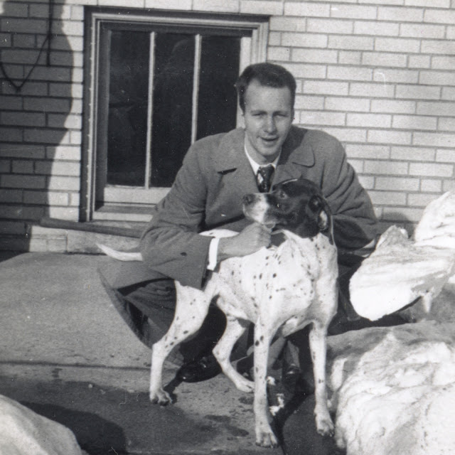 Fred Pape with Lucky, Chicago, Illinois, December 1951