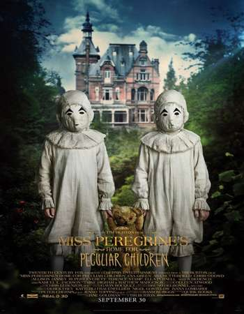 Poster Of Miss Peregrine's Home for Peculiar Children 2016 Hindi ORG Dual Audio 720p   Free Download Watch Online worldfree4uk.com