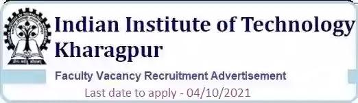 IIT Kharagpur Faculty Recruitment 2021