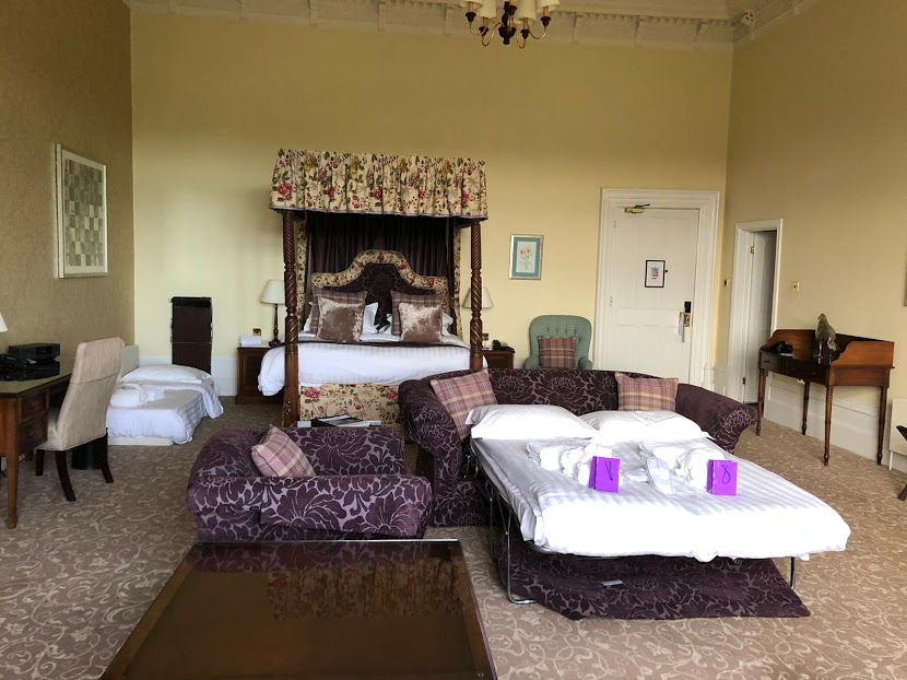 10 Reasons to Stay at Matfen Hall in Northumberland with Kids  - Matfen Hall suite