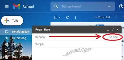Fungsi Cc Bcc Pada Pengiriman Email