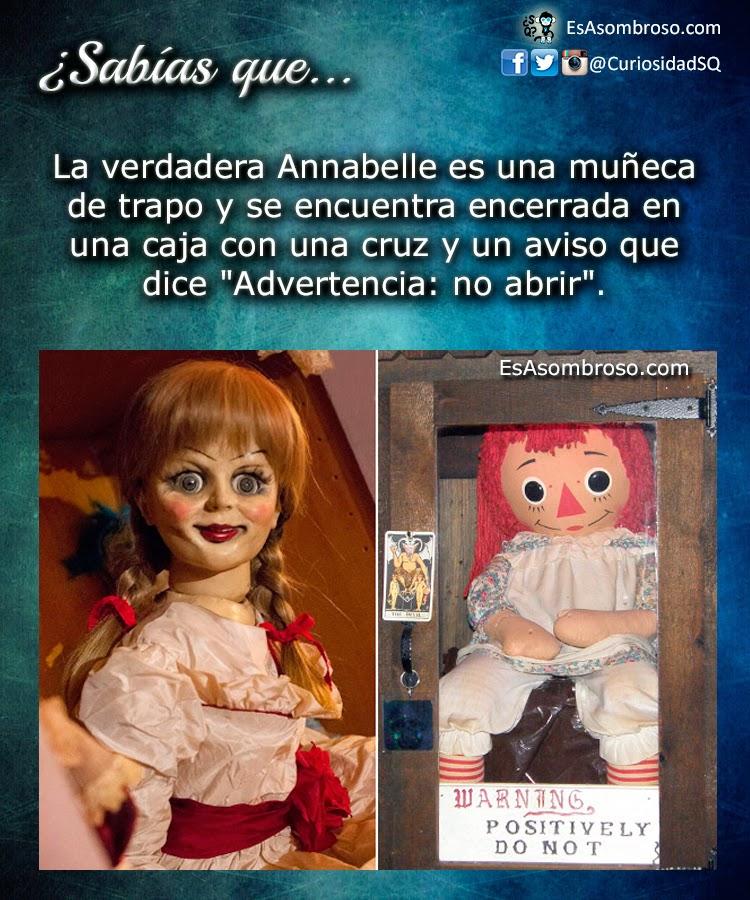 Nueve Terroríficas Curiosidades de la Muñeca Real Annabelle