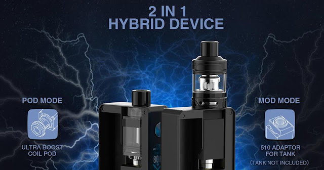 Lost Vape Gemini Hybrid Pod Mod Kit Preview