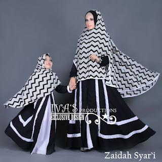 Zaidah Syar'i Mom n Kidz by IVA Hitam