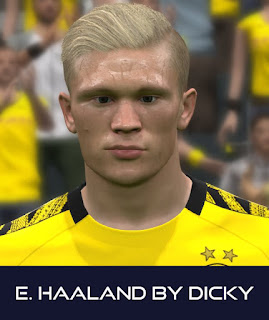 PES 2017 Faces Erling Haaland by Dicky