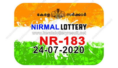 kerala lottery result, kerala lottery kl result, yesterday lottery results, lotteries results, keralalotteries, kerala lottery, keralalotteryresult, kerala lottery result live, kerala lottery today, kerala lottery result today, kerala lottery results today, today kerala lottery result, Nirmal lottery results, kerala lottery result today Nirmal, Nirmal lottery result, kerala lottery result Nirmal today, kerala lottery Nirmal today result, Nirmal kerala lottery result, live Nirmal lottery NR-183, kerala lottery result 24.07.2020 Nirmal NR 183 24 July 2020 result, 24 07 2020, kerala lottery result 24-07-2020, Nirmal lottery NR 183 results 24-07-2020, 24/07/2020 kerala lottery today result Nirmal, 24/07/2020 Nirmal lottery NR-183, Nirmal 24.07.2020, 24.07.2020 lottery results, kerala lottery result July 24 2020, kerala lottery results 24th July 2020, 24.07.2020 week NR-183 lottery result, 24.07.2020 Nirmal NR-183 Lottery Result, 24-07-2020 kerala lottery results, 24-07-2020 kerala state lottery result, 24-07-2020 NR-183, Kerala Nirmal Lottery Result 24/07/2020