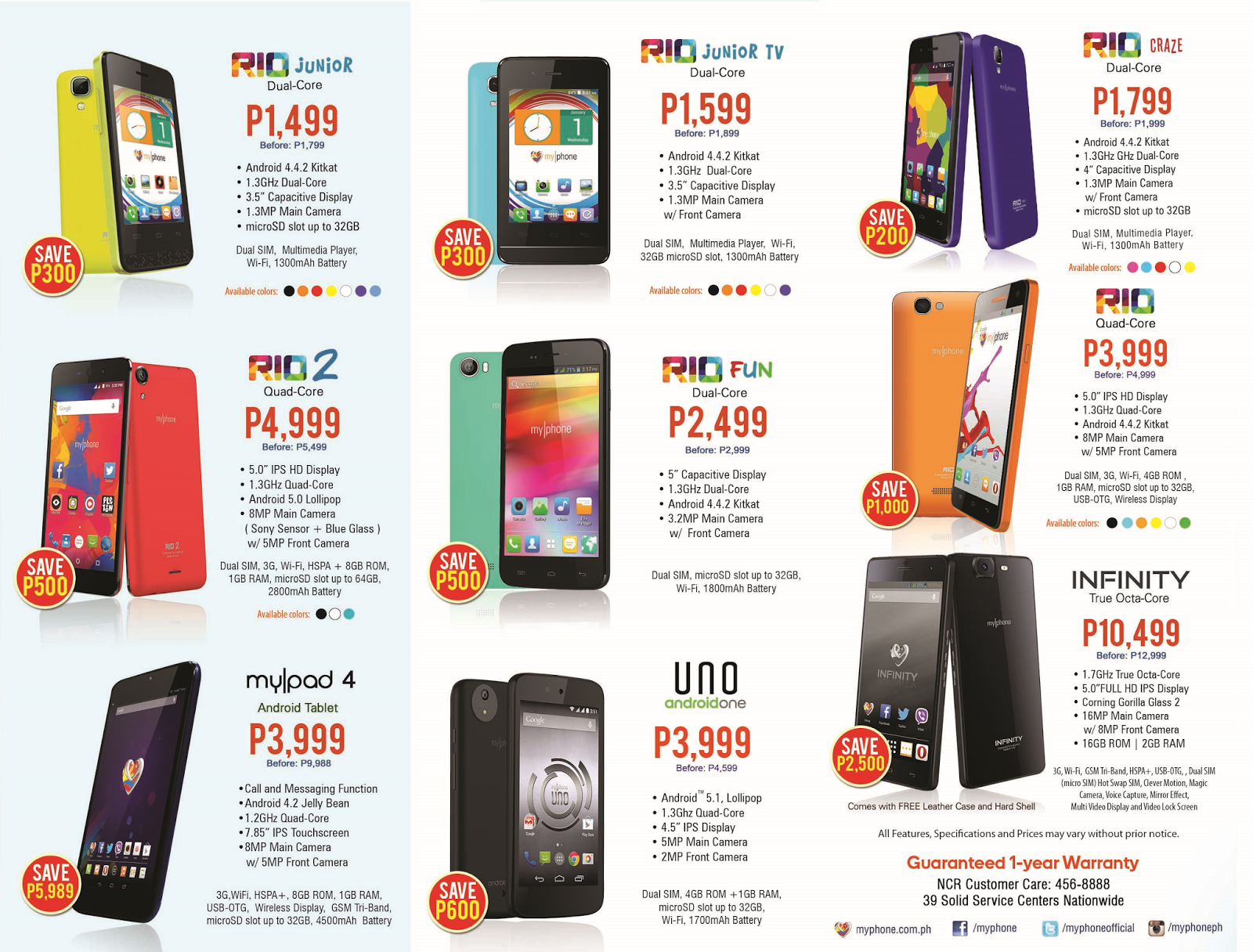 MyPhone MEGA Sale Price List