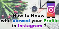 Know Who Viewed Your Instagram Profile