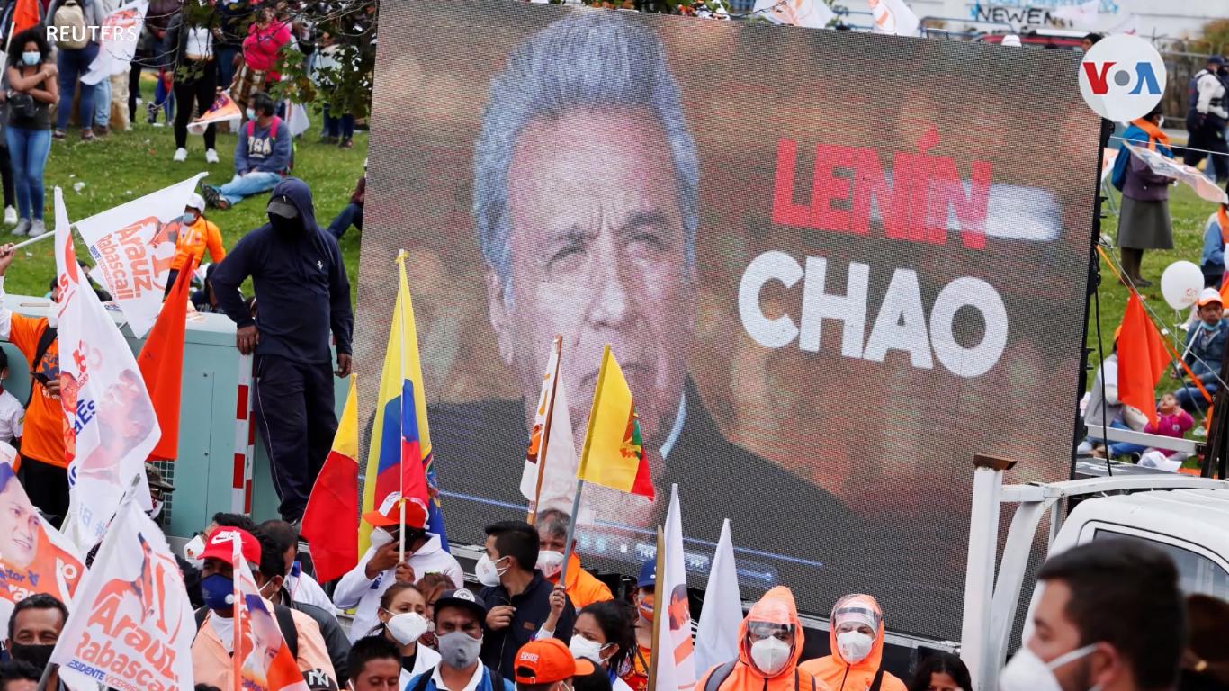 Campaña del candidato correista Arauz, contrario al presidente Moreno que no busca la reelección / REUTERS