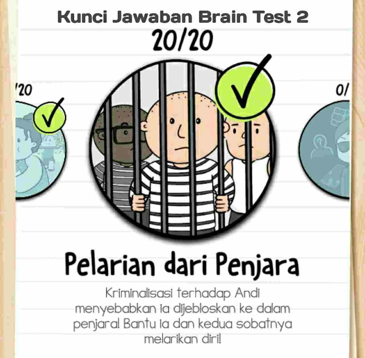 Kunci Jawaban Brain Test 2 Pelarian Dari Penjara Level 1 20