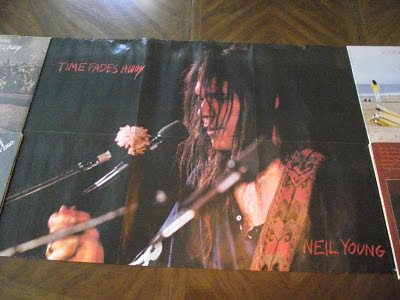 Neil Young News Photo Insert From Time Fades Away Album