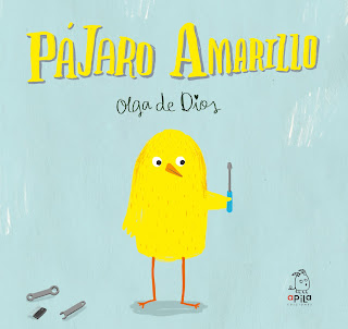 Portada del cuento Pájaro Amarillo de la ilustradora Olga de Dios