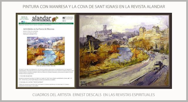 COVA DE SANT IGNASI-PINTURA-MANRESA-ALANDAR-SANT IGNASI DE LOIOLA-PAISAJES-SAN IGNACIO DE LOYOLA-PINTURAS-REVISTAS-ESPIRITUALES-ARTISTA-PINTOR-ERNEST DESCALS