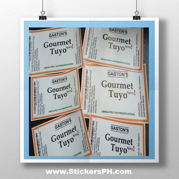 Gourmet Tuyo Sticker Labels Philippines