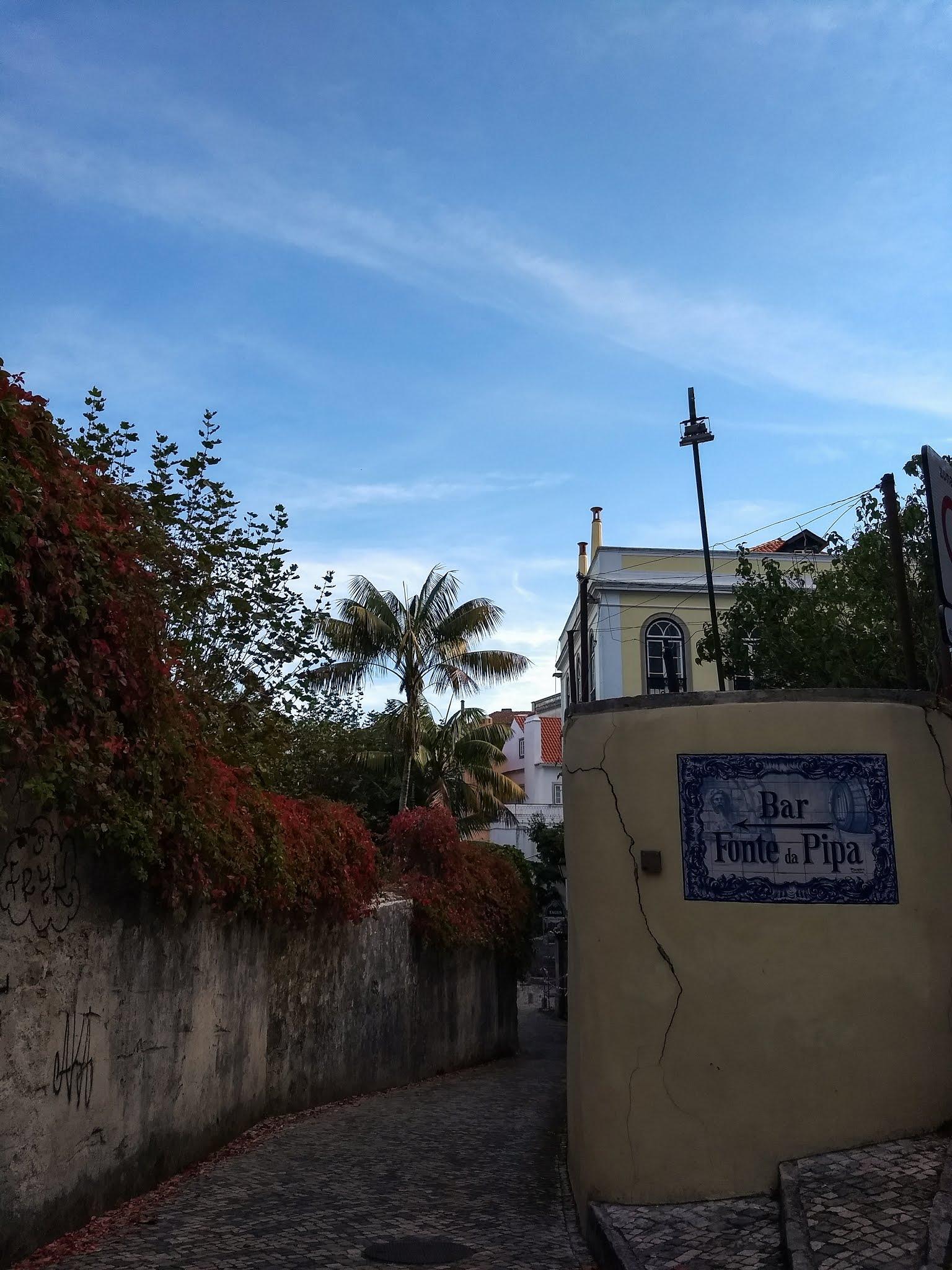 A tiled sign for Bar Fonte de Pipa, Sintra, Portugal.