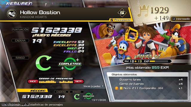 Kingdom Hearts Melody of Memory - Puntuación