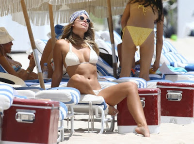 Natasha Oakley in Bikini on Miami Beach