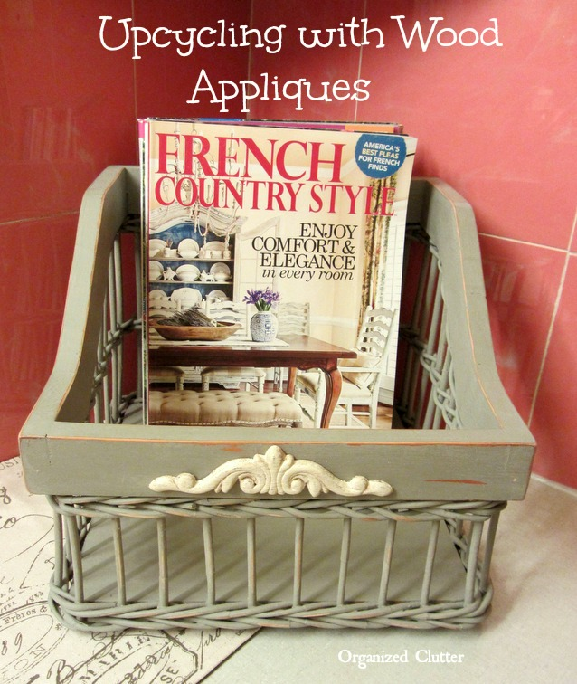 "Thrift Shop Basket ""French"" Upcycle www.organizedclutterqueen.blogspot.com"