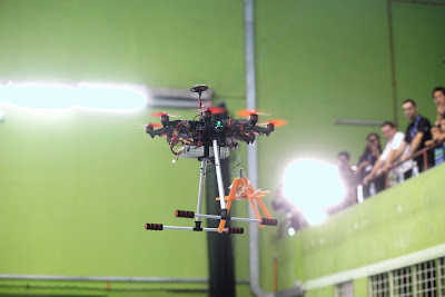 The drone from University Teknikal Malaysia Melaka (UTeM) undertaking the Secure & Delliver Package Mission.