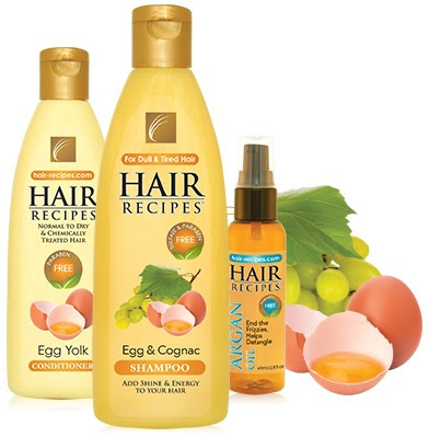 Dull hair is revived with Hair Recipes Egg & Cognac Shampoo!