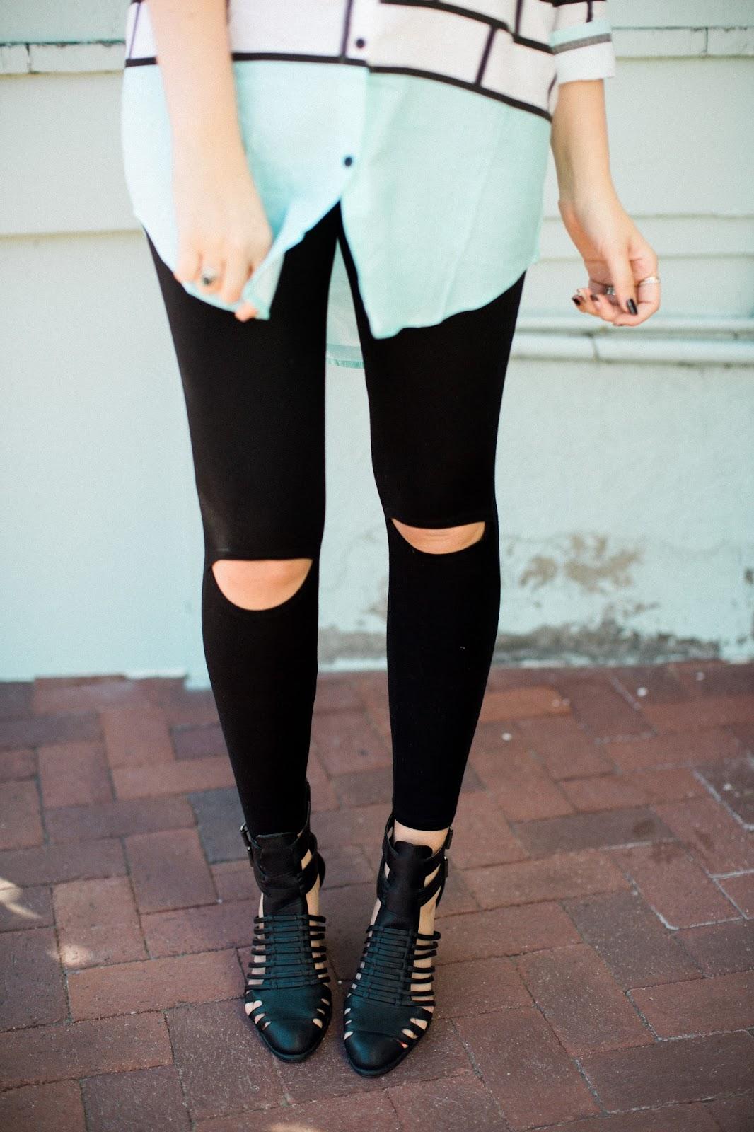The Red Closet Shop, Utah Fashion Blogger, Peek-a-Boo Leggings