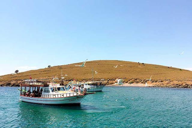 Ayvalık İncirli Adası, tekne turlarının uğrak yerlerinden