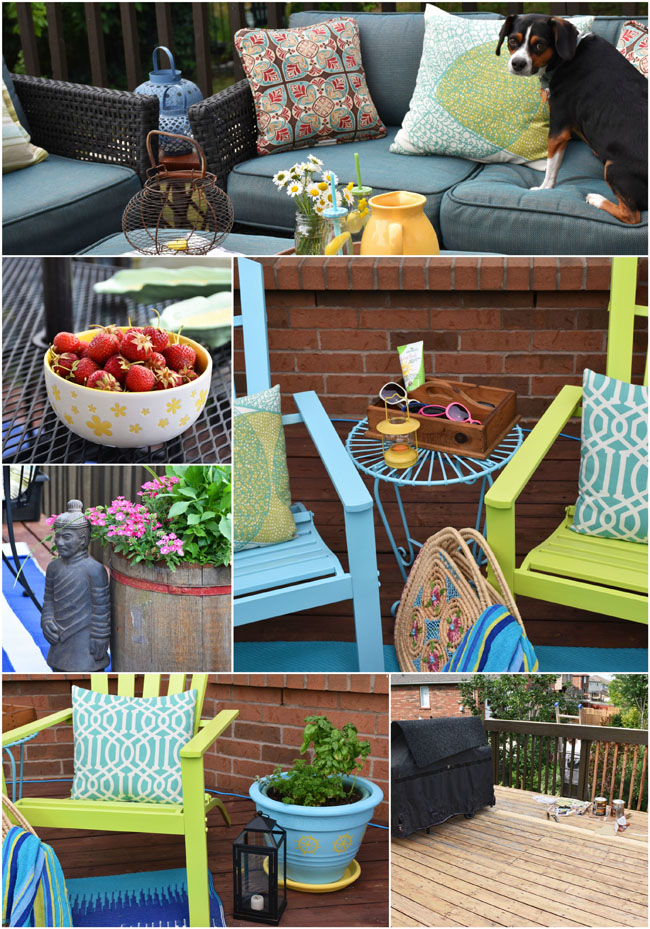 Refresh Your Outdoor Space With a Few Diys & Some Thrifty Accessories! #crafts #outdoors #summer #decor