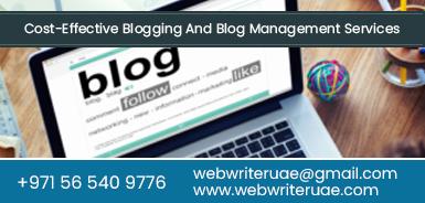 Blogging services dubai