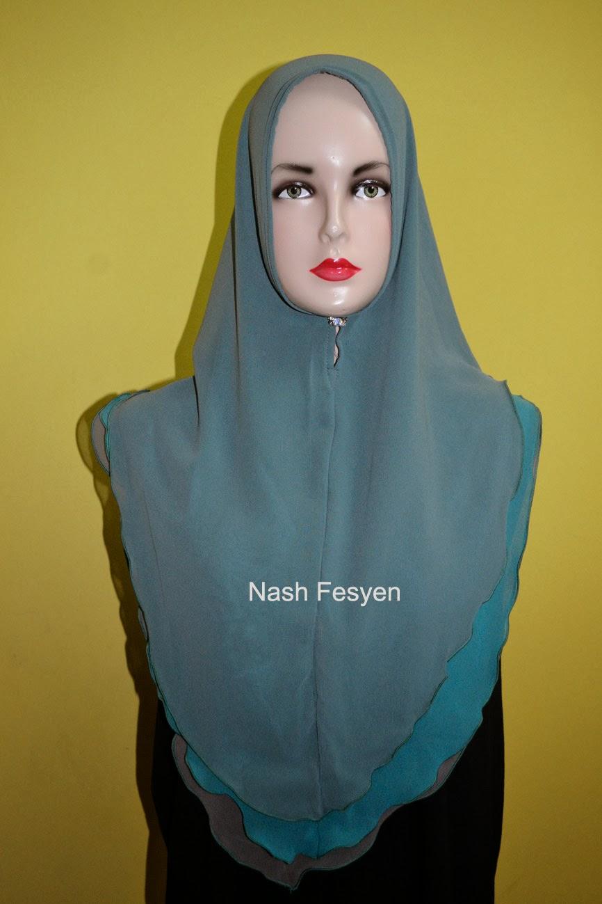 Nash Fesyen Tudung Syria Plain Labuh