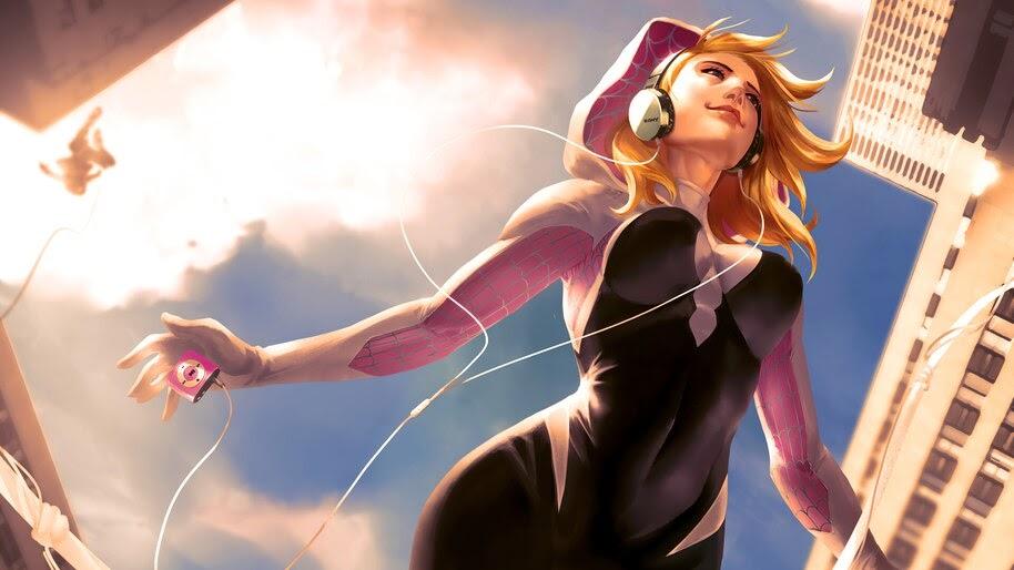 Gwen Stacy, Spider-Gwen, Marvel, Superhero, 4K, #6.1322
