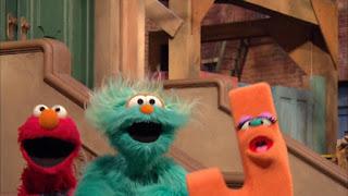 Sesame Street Episode 4306 The Letter G Song, elmo, rosita, letter j