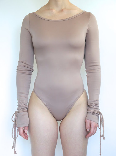 Shevah Bodysuit by Nadia Aboulhosn in Mauve