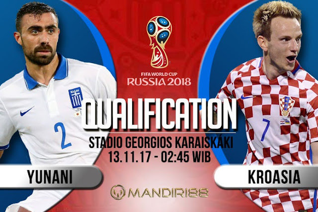 Prediksi Bola : Greece Vs Croatia , Senin 13 November 2017 Pukul 02.45 WIB