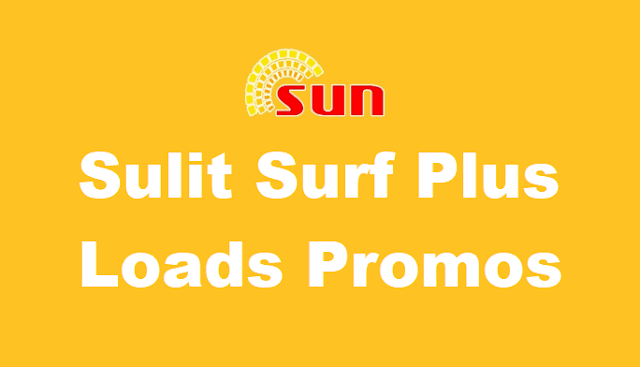 List of Sun Sulit Surf Plus Loads Promos : Unli trinet calls, all-net SMS + Data
