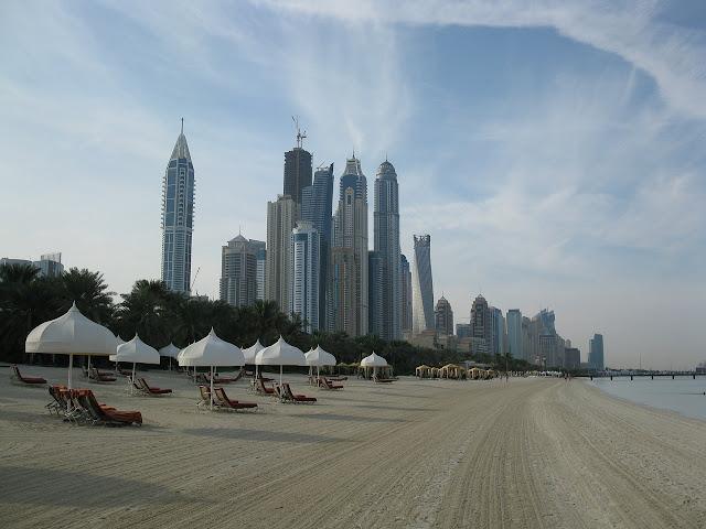 La spiaggia di Dubai